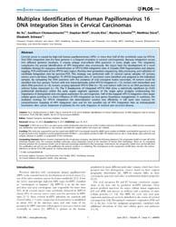 Plos One : Multiplex Identification of H... by Ramqvist,torbjörn