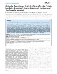 Plos One : Molecular Evolutionary Analys... by Tuller, Tamir