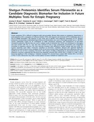 Plos One : Shotgun Proteomics Identifies... by Koomen, John, Matthew