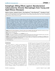 Plos One : Autophagic Killing Effects Ag... by Basu, Joyoti