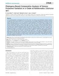 Plos One : Phylogeny-based Comparative A... by Etges, William, J.