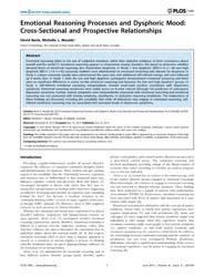 Plos One : Emotional Reasoning Processes... by Baune, Bernhard, T.