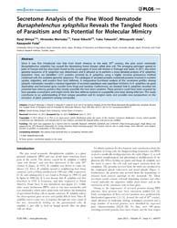 Plos One : Secretome Analysis of the Pin... by Rockey, Daniel