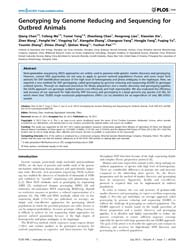 Plos One : Genotyping by Genome Reducing... by Zhao, Shuhong