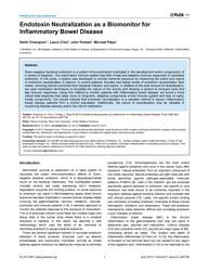 Plos One : Endotoxin Neutralization as a... by Unutmaz, Derya
