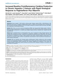 Plos One : Increased Baseline Proinflamm... by Polyak, Stephen, J.