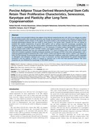 Plos One : Porcine Adipose Tissue-derive... by Covas, Dimas, Tadeu