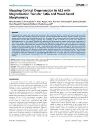 Plos One : Mapping Cortical Degeneration... by Jones, Kelvin, E.