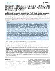 Plos One : Pharmacometabolomics of Respo... by Bundy, Jacob, Guy