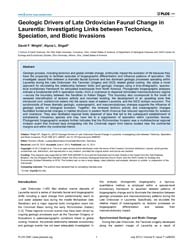 Plos One : Geologic Drivers of Late Ordo... by Butler, Richard, J