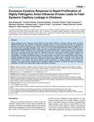 Plos One : Excessive Cytokine Response t... by Subbiah, Elankumaran
