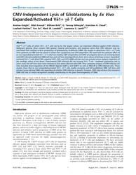 Plos One : Cmv-independent Lysis of Glio... by Lesniak, MacIej S.