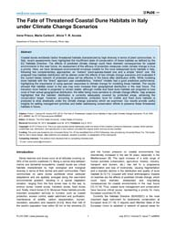 Plos One : the Fate of Threatened Coasta... by Bohrer, Gil