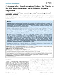 Plos One : Evaluation of 41 Candidate Ge... by Mittal, Balraj