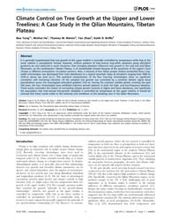Plos One : Climate Control on Tree Growt... by Newsom, Lee A.