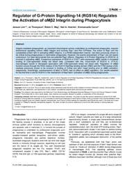 Plos One : Regulator of G-protein Signal... by Houtman, Jon C.D.