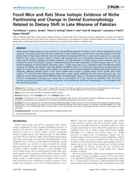 Plos One : Fossil Mice and Rats Show Iso... by Viriot, Laurent
