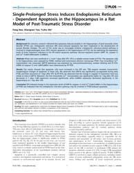 Plos One : Single-prolonged Stress Induc... by Tansey, Malú G.