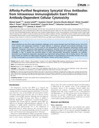 Plos One : Affinity-purified Respiratory... by Kanellopoulos, Jean