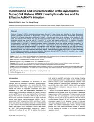 Plos One : Identification and Characteri... by Imhof, Axel