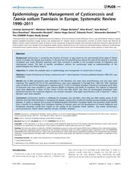 Plos One : Epidemiology and Management o... by Vermund, Sten H.