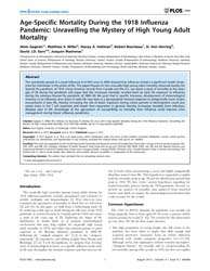 Plos One : Age-specific Mortality During... by Digard, Paul