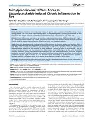 Plos One : Methylprednisolone Stiffens A... by Sen, Utpal