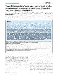 Plos One : Toward Repurposing Ciclopirox... by Adler, Ben