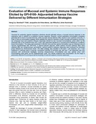 Plos One : Evaluation of Mucosal and Sys... by Alsharifi, Mohammed