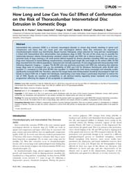 Plos One : How Long and Low Can You Go E... by Wade, Claire
