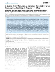 Plos One : a Strong Anti-inflammatory Si... by Gong, Zhiyuan