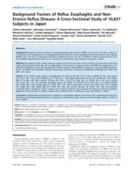 Plos One : Background Factors of Reflux ... by Katoh, Masaru