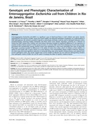 Plos One : Genotypic and Phenotypic Char... by Cascales, Eric