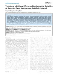 Plos One : Tyrosinase Inhibitory Effects... by Hudson, André O.