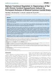 Plos One : Biphasic Functional Regulatio... by Reddy, Hemachandra