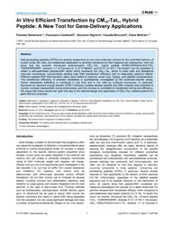 Plos One : in Vitro Efficient Transfecti... by Gasset, Maria