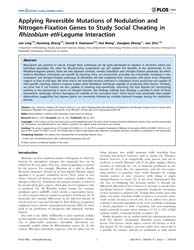 Plos One : Applying Reversible Mutations... by Ballhorn, Daniel