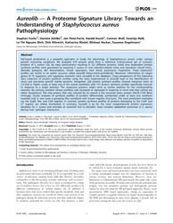 Plos One : Aureolib — a Proteome Signatu... by Horsburgh, Malcolm James