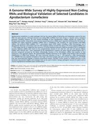 Plos One : a Genome-wide Survey of Highl... by Herrera-estrella, Alfredo