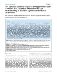 Plos One : the Complete Genomic Sequence... by Ghanim, Murad