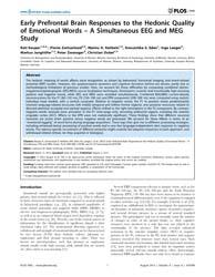 Plos One : Early Prefrontal Brain Respon... by Ward, Lawrence M.
