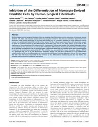 Plos One : Inhibition of the Differentia... by Bayry, Jagadeesh