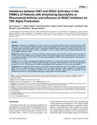 Plos One : Imbalance Between Hat and Hda... by Bobe, Pierre