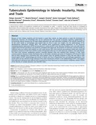 Plos One : Tuberculosis Epidemiology in ... by Khudyakov, Yury E.