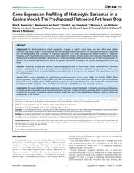 Plos One : Gene Expression Profiling of ... by Krahe, Ralf