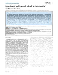 Plos One : Learning of Multi-modal Stimu... by Dyer, Adrian G.