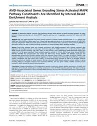 Plos One : Amd-associated Genes Encoding... by Hsu, Yi-hsiang