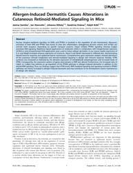 Plos One : Allergen-induced Dermatitis C... by Schubert, Michael