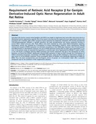 Plos One : Requirement of Retinoic Acid ... by Barnes, Steven
