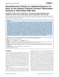 Plos One : Neurobehavioral Toxicity of a... by Rubino, Tiziana